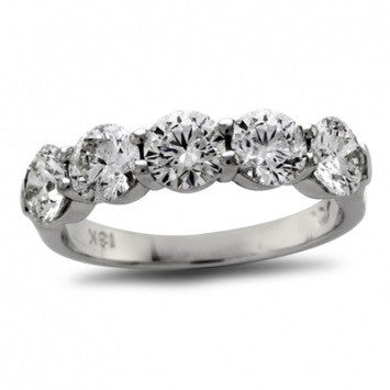 2.50 CT. Diamond Five Stone Band in Platinum