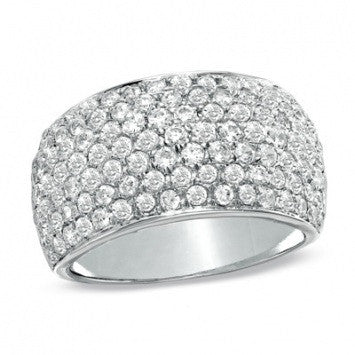2.00 CT. Diamond Accents Band in White Gold