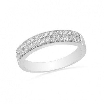 0.75 CT. Diamond Double Wedding Band in White Gold