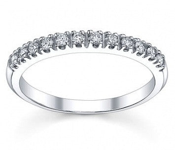 0.21 CT. Diamond Wedding Band Ring in White Gold