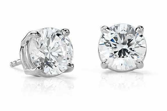 3/4 CT. Diamond Studs in White Gold