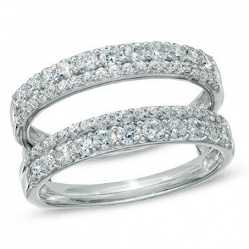 1.00 CT. Diamond Double Row Band in White Gold