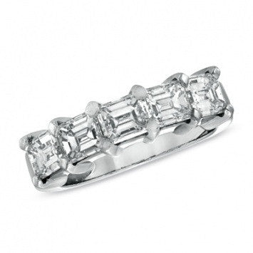 2.00 CT. Emerald-Cut Diamond Wedding Band in Platinum