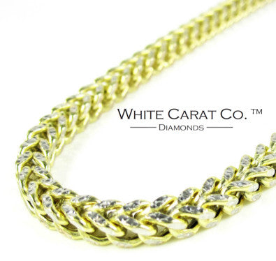 10K Gold Diamond-Cut Franco Chain - 4.0 mm