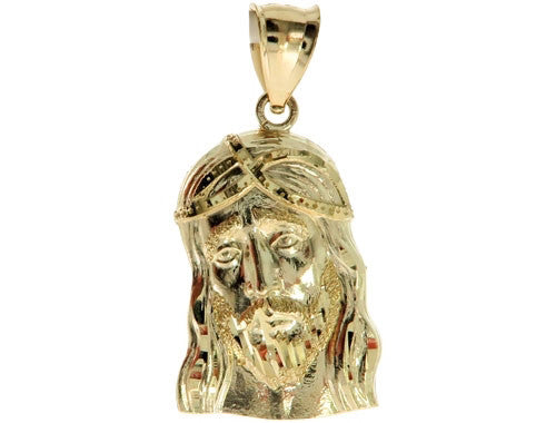 Gold Jesus Pendant in 10K Yellow Gold