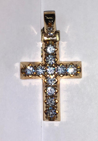 2.15 CT. Diamond Cross Pendant in 10K Gold