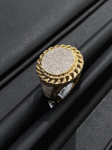 0.50CT. Diamond Men's Ring in 10K Yellow Gold