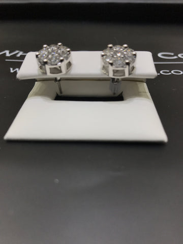 2.10 CT. Diamond Studs in 14K White Gold