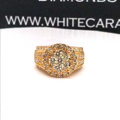 2.73 CT. Exclusive Men's Diamond Ring in 10K Gold