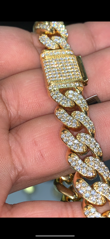 8.50 CT. DIAMOND MIAMI CUBAN IN 10K GOLD