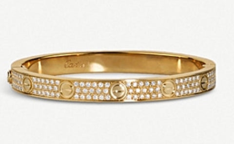 4.00 CT. Diamond Bangle in 18K Yellow Gold