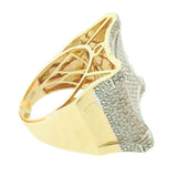 1.54 CT. Concave Diamond Ring in 10K Yellow Gold