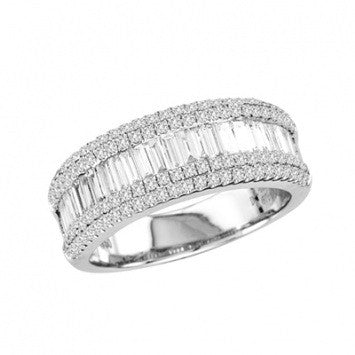 1.00 CT. Modern Diamond Wedding Band in White Gold