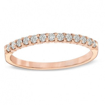 0.75 CT. Round-Cut Diamond Band in Rose Gold