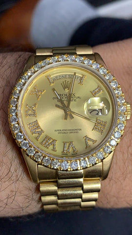 ROLEX PRESIDENTIAL WITH DIAMOND BEZEL