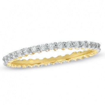 0.50 CT. Round-Cut Diamond Wedding Band in Yellow Gold