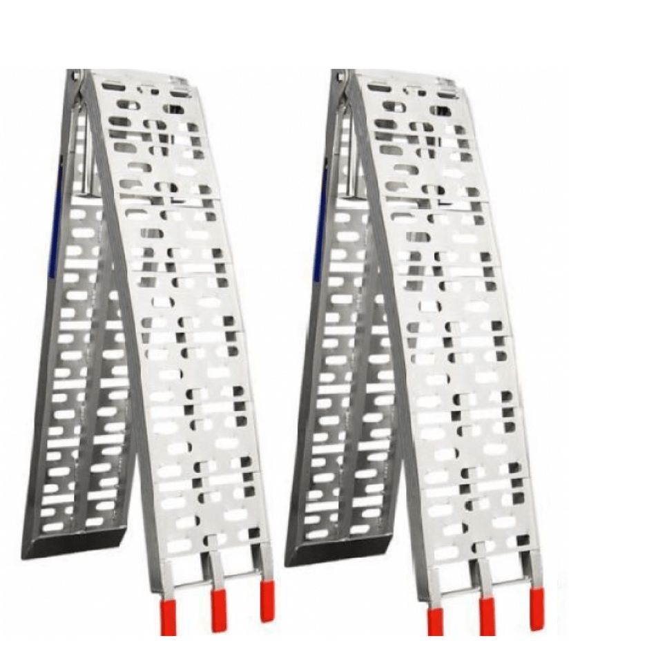 two aluminium loading ramps