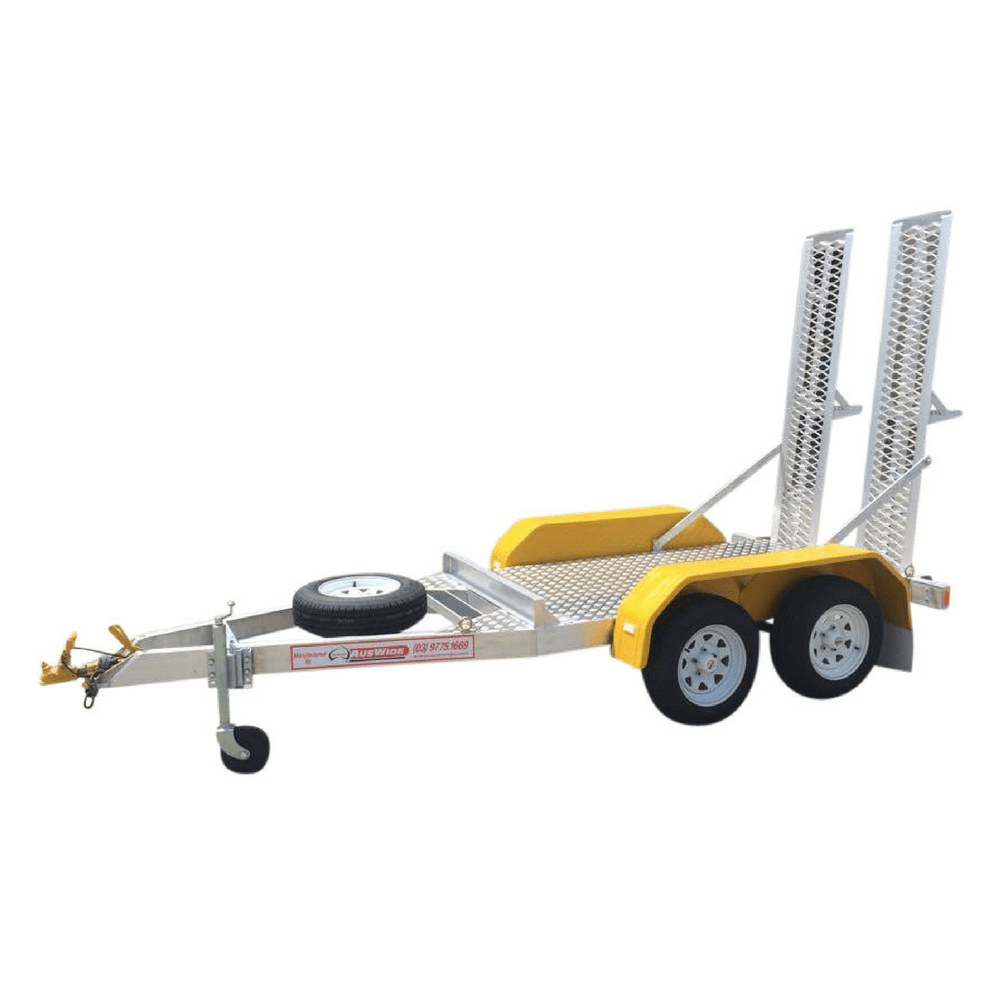auswide plant trailer with yellow mudguards