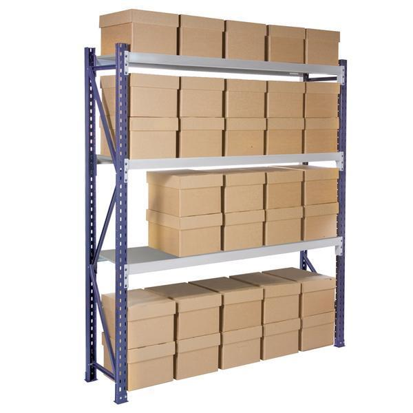 Storage shelving with boxes