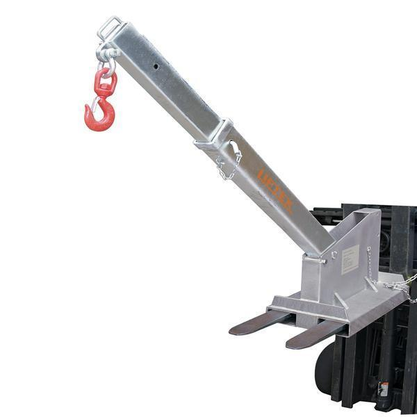 Forklift crane lifting attachment