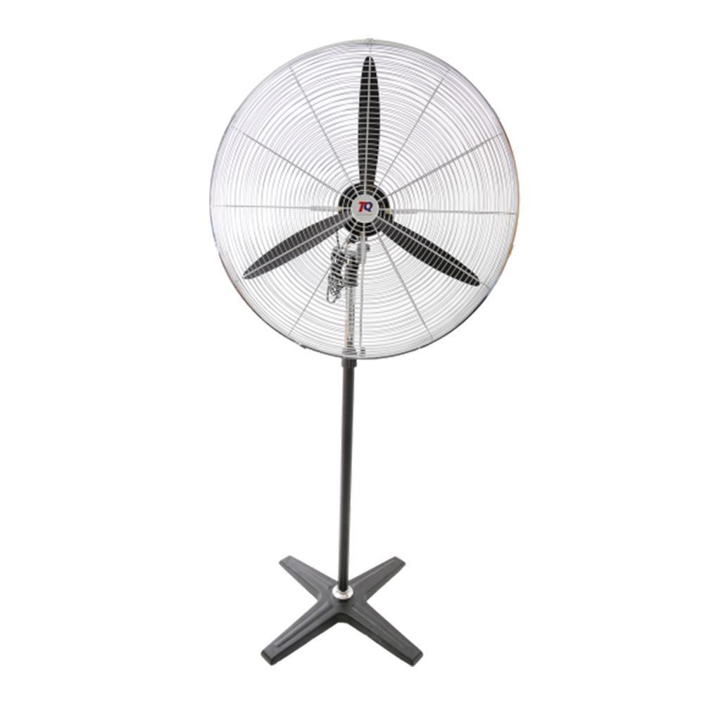 commercial steel workshop fan with four legs and three fan props