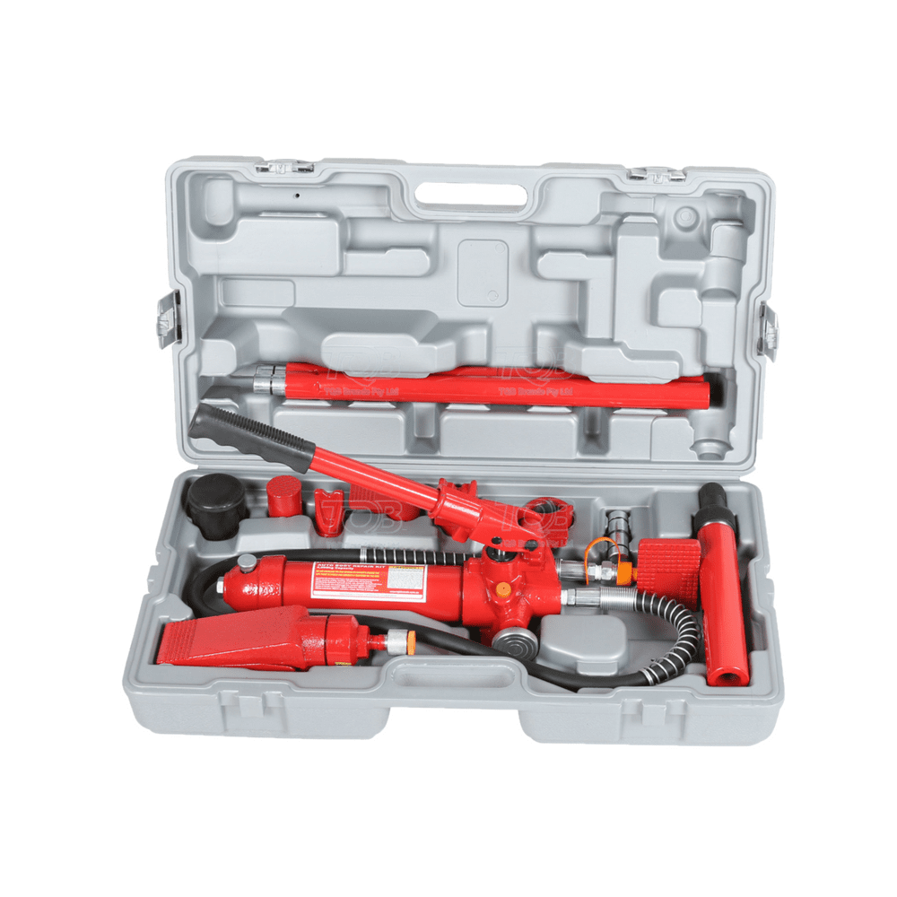 tradequip workshop tool - red tools inside a grey storage box