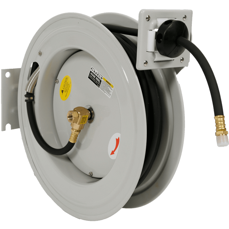 White air wall mounted hose reel