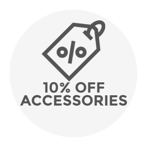 ten percent off construction accessories icon