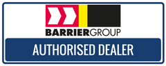 Barrier Group authorised dealer badge