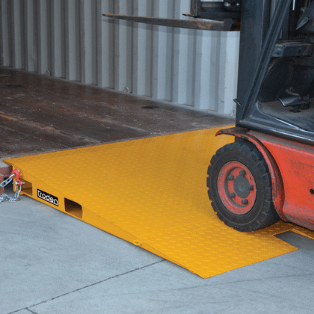 yellow container ramp