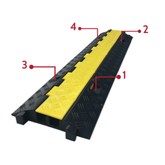 Heeve Hinge Lid Rubber Cable Protector - 2 Channel bolt hole guide