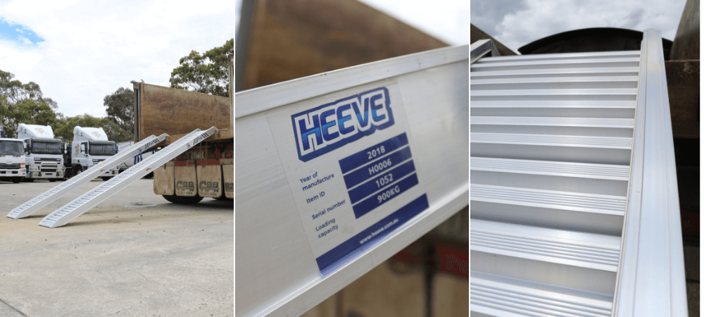 1.8-tonne construction aluminium loading ramps from Heeve