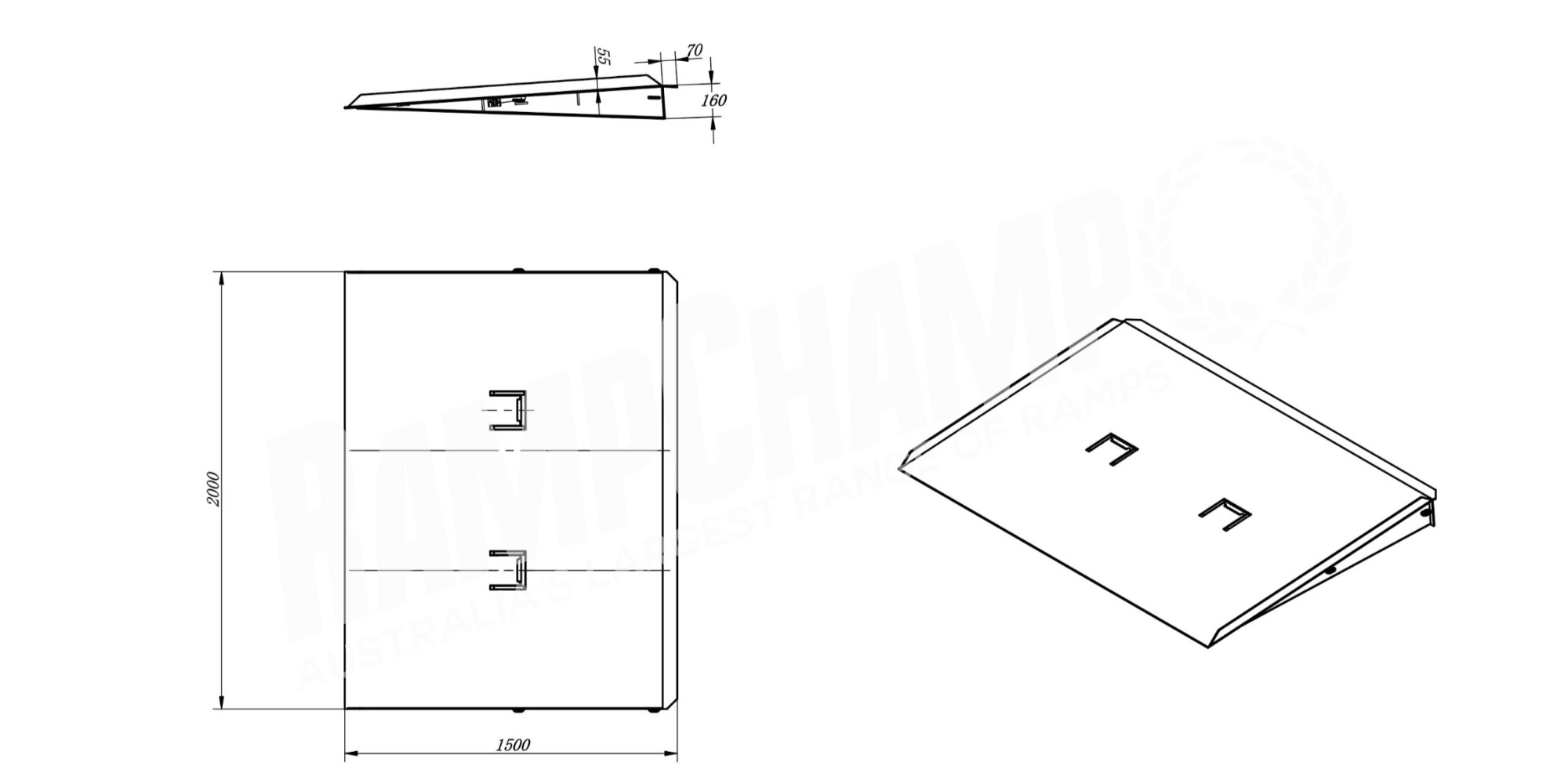Heeve Industrial-Series Forklift Container Ramp design drawing