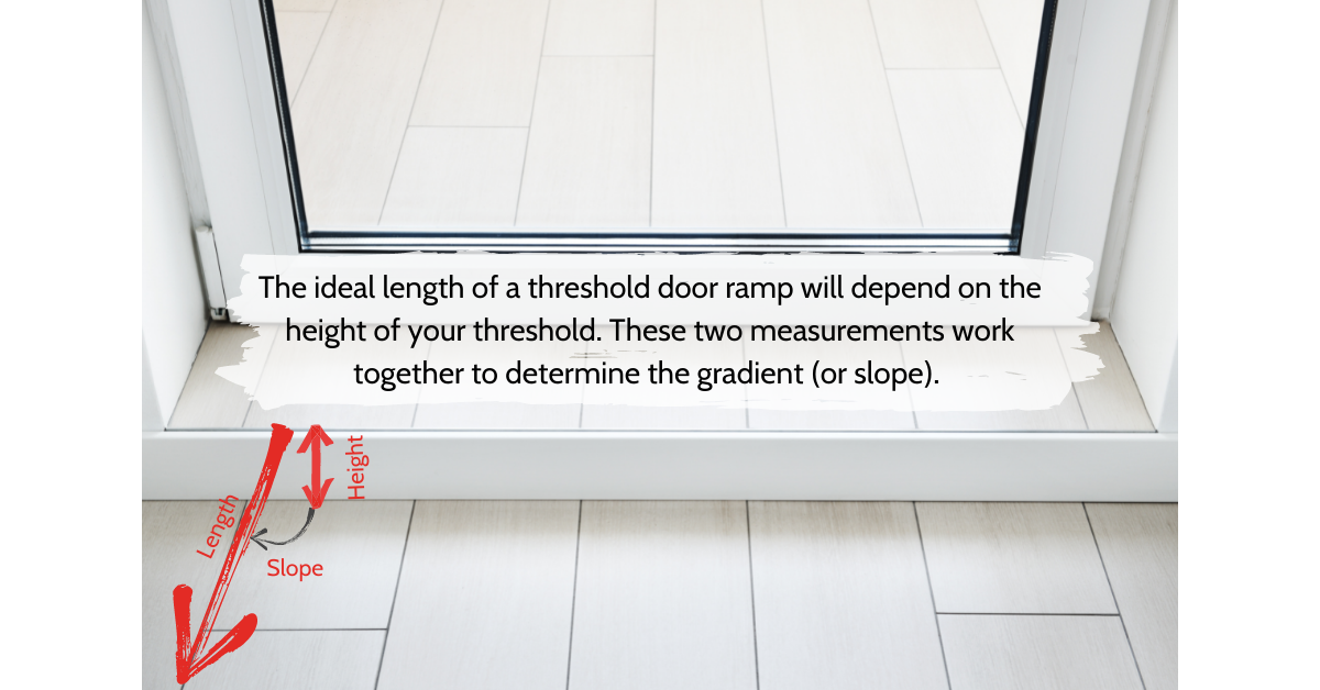 Image on how to measure for the height of your threshold door ramp
