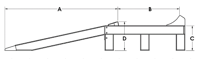 Sureweld wheel riser dimensions drawing