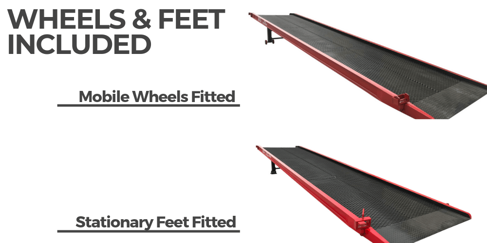 Wheel & feet image for the Heeve Commercial Series Yard Ramp