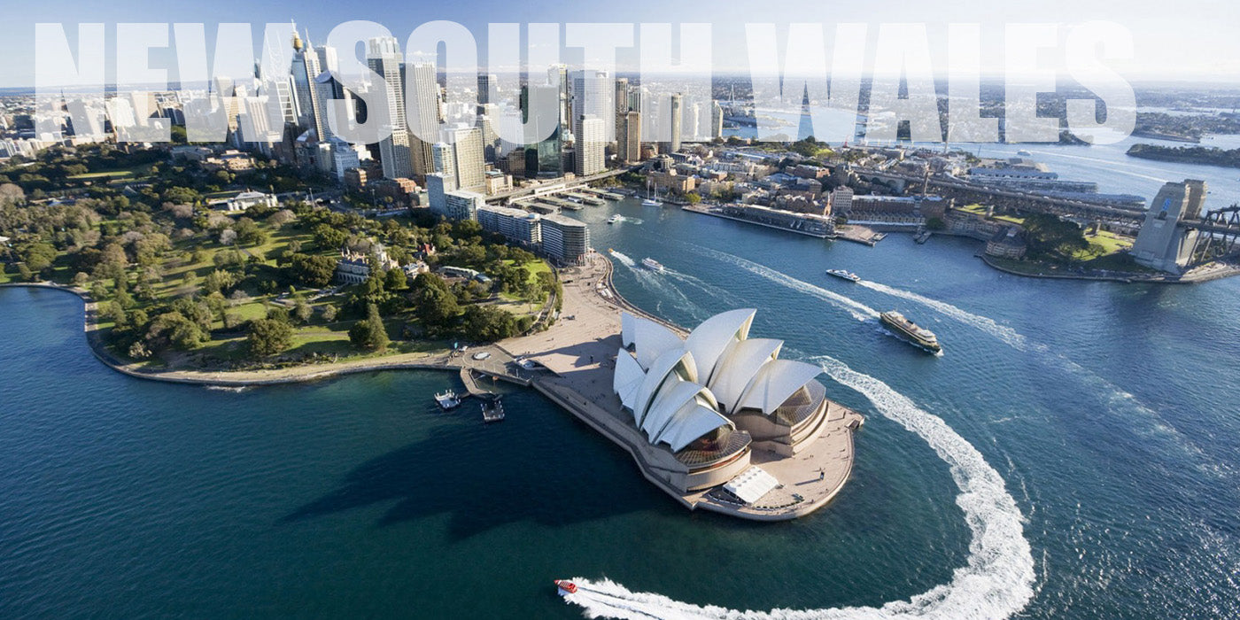 Aerial shot of Sydney, New South Wales