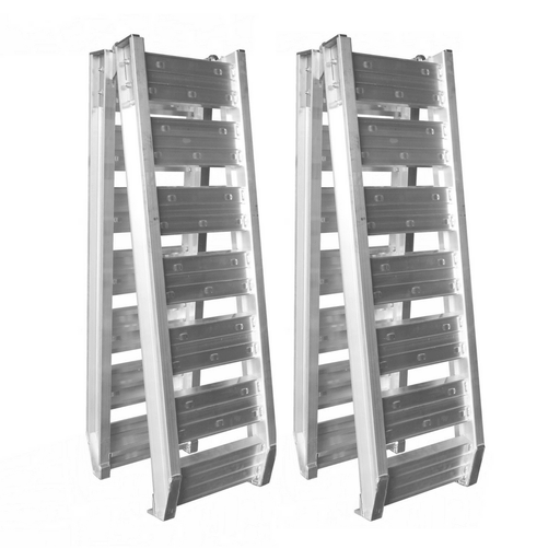 Oz 1.6-Tonne 2.4m x 370mm Folding Aluminium Loading Ramps - Oz Loading Ramps - Ramp Champ