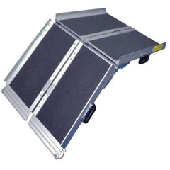 Image of Aidapt 1,220mm Portable Aluminum Folding Suitcase Wheelchair Ramp, 272kg Capacity