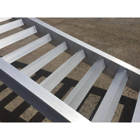 AusRamp 5 Tonne 3.5m x 550mm Aluminium Machinery Loading Ramps, Pair - AusRamp - Ramp Champ