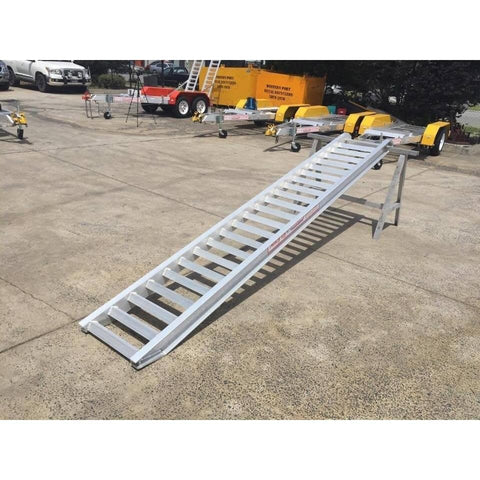 AusRamp 6 Tonne 3.5m x 620mm Aluminium Machinery Loading Ramps, Pair - AusRamp - Ramp Champ
