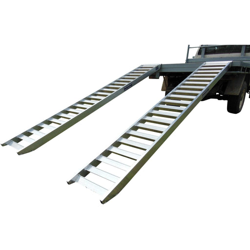 Whipps Construction & Machinery Whipps 1.5-Tonne 350mm Non-Folding Aluminium Loading Ramps - 2.5m
