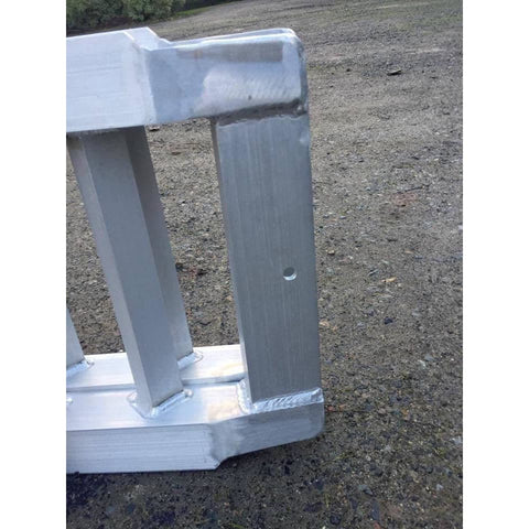 AusRamp 2-Tonne 1.7m x 430mm Aluminium Machinery Loading Ramps for Trailers, Pair