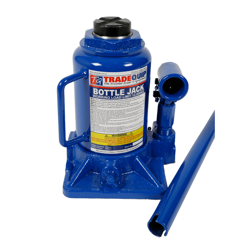 TradeQuip Low Profile Bottle Jack Squat Hydraulic, 12 Tonne - TradeQuip - Ramp Champ