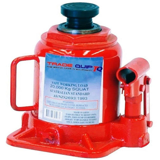 TradeQuip Low Profile Bottle Jack Squat Hydraulic, 20 Tonne - TradeQuip - Ramp Champ