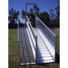 Atlex 3.6m Height Adjustable Permanent (Flat Pack) Sheep Loading Ramp