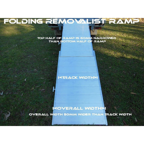 Whipps 2.5m x 740mm/800mm 400kg Folding Walk Board/Removalist Ramp
