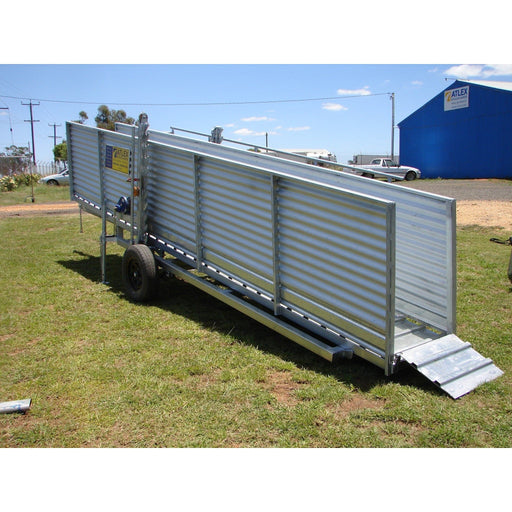 Atlex 8m Heavy Duty Height Adjustable Mobile Sheep Loading Ramp - Atlex - Ramp Champ