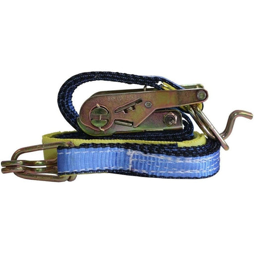 Ratchet Tie Downs- Industrial-Grade High-Vis with J-Hook - Borum - Ramp Champ