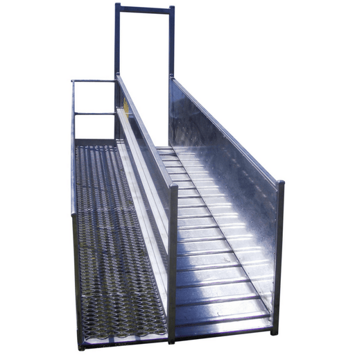 Atlex 3.6m Height Adjustable Permanent (Flat Pack) Sheep Loading Ramp - Atlex - Ramp Champ